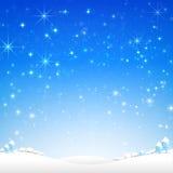 Star Night And Snow Fall Bakcground Vector Illustration 002 Royalty Free Stock Photos