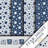 Star Night Pattern Stock Photography