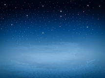 Star at night sky. And cloudy Stock Photos