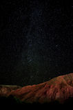 Star night sky. With mountain Stock Images