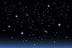 Star night sky - Stock Illustration. Star night sky landscape - illustration vector illustration