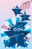 Star ninja cute Royalty Free Stock Photography