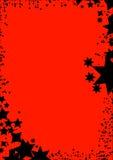 Star o frame vermelho do fundo Imagem de Stock