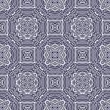 Star o fundo sem emenda do teste padrão da matriz da flor em azul e em branco ilustração do vetor