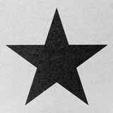 Star on Old Eco Paper Royalty Free Stock Photography