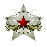 Star with ornate elements Stock Photo