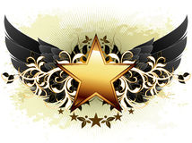 Star with ornate elements Royalty Free Stock Photography