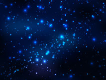 Star in outer space, night magic sky Royalty Free Stock Images