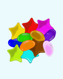 Star & oval shape jelly beans Royalty Free Stock Images