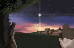 Star Over Bethlehem. The star shining over Bethlehem Royalty Free Stock Photo