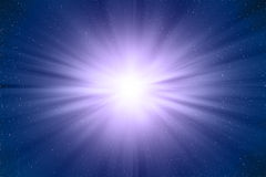 Star in over a blue background Royalty Free Stock Photos