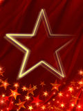 Star over red background Royalty Free Stock Photo