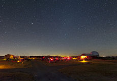 Star Party -- the viewing field Stock Images