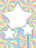 Star pastel color card Stock Image