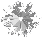 Star pattern Stock Image