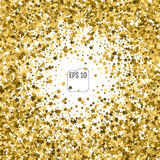 Star pattern background. White, gold, gift wrap. Vector illustra Royalty Free Stock Photos