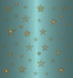 Star pattern on the blue Stock Image