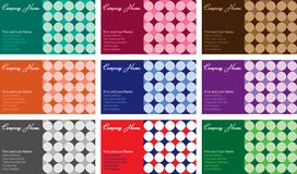 Star Pattern Business Cards. Vector illustration of business card with stars pattern background and space for text Stock Images