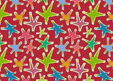 Star pattern colorful texture seamless Stock Images