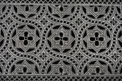 Metal floor pattern with symmetry. A star pattern made of metal is be seen with repeating structure stock photos