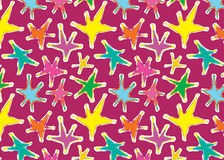 Graphical star pattern seamless vector Royalty Free Stock Images