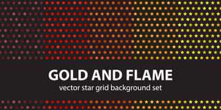 Star pattern set Gold and Flame Royalty Free Stock Image