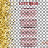 Star pattern. Transparent background, gold, gift wrap. Vector il Royalty Free Stock Image