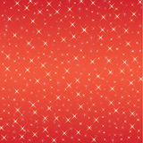 Star pattern vector on red background Stock Photo