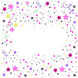 Star pattern. white, background, gold, gift wrap. Vector illustration. Stock Images