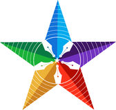 Star pen logo Stock Photo