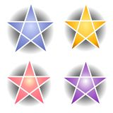 Star and Pentagram Web Icons Royalty Free Stock Photos
