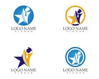 Star people education logo design concept.  royalty free illustration