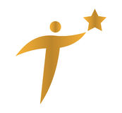 Star Person Concept Icon Design Royalty Free Stock Images
