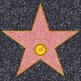 Star Phonograph record (Hollywood Walk of Fame) vector illustration