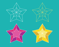Star pictogram Royalty Free Stock Images