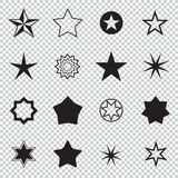 Star pictogram. Set star icons. Concept rating, success, awards. Collection star pictogram. Colored star shape. Stock Photos