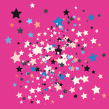 Star on pink background Royalty Free Stock Photos