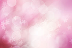 Star on pink and white, abstract bokeh background Stock Photos