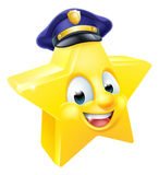 Star Police Emoji Emoticon Royalty Free Stock Images