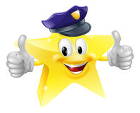 Star policeman cartoon Royalty Free Stock Photos