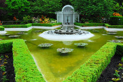 Star pond in butchart gardens Stock Image