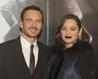 Star Power:  Michael Fassbender & Marion Cotillard Stock Photography