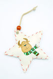 Star on pretty stag. White star on pretty stag Royalty Free Stock Photo