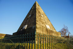 The Star Pyramid, Pithy Mary, Stirling, Stirlingshire, Scotland, UK. Pithy Mary, Stirling, Stirlingshire, Scotland, UK.  This view shows the Star Pyramid. The Stock Photos