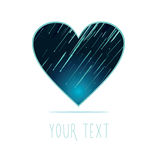 Star rain in the heart-shaped Royalty Free Stock Photography