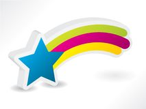 Star with rainbow. 3d star with rainbow and shadow Royalty Free Stock Photos