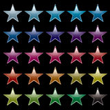 Star rainbow black Stock Images