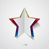 Star, Rainbow colored  Royalty Free Stock Photography