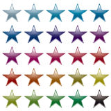 Star rainbow variation Royalty Free Stock Photos