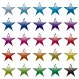 Star rainbow variation Royalty Free Stock Photos